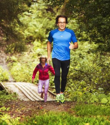 Löpning, cykling och skidåkning